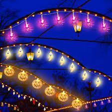 Outdoor Halloween Lights Amazon Com 3 Pieces Halloween String Lights 30 Led String