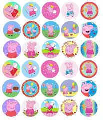 Peppa Pig Pre Cut Premium Edible Wafer Birthday Party Cupcake
