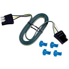 trailer electrical connectors reese® brands connector 4 flat loop 18 in splice connectors