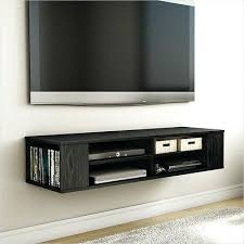 wall mounted tv shelf media console black stand entertainment center floating cabinet uk