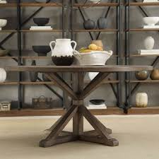 rustic 60 inch round table set with antique racks for amazing country styled dining room ideas