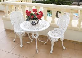 white iron patio furniture. Fine Patio White Iron Patio Furniture Modern Chair Ottoman  Garden Furniture  Metal Interior Designe And With White Iron Patio Furniture T
