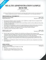 Healthcare Administration Resume Samples Topshoppingnetwork Com