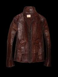 a hand made lost art men s american alligator skin jacket with cow leather
