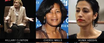 Image result for photos of hillary, cheryl mills and abeden