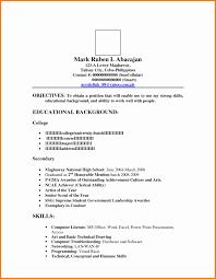 50 Unique Philippine Resume Format Resume Templates Blueprint