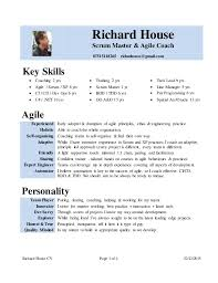 Cv Rich House Scrum Master Agile Coach Resume Examples For Jobs