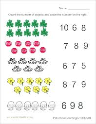 Preschool Counting Worksheets 1 20 Number 1 Preschool Counting ...