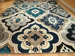 blue area rugs 9x12