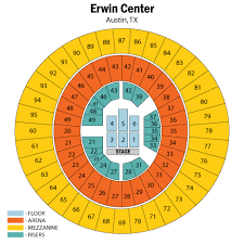 Frank Erwin Center Austin Tickets Schedule Seating