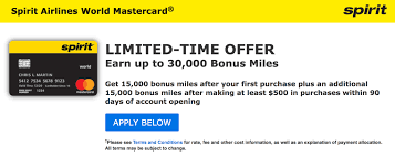 Spirit Airlines Mastercard Doubles Bonus Enough Miles For