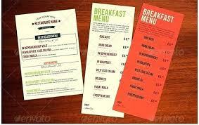Food Menu Template Design Download Illustrator Word