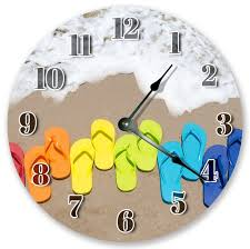10 5 colored flip flops clock large 10