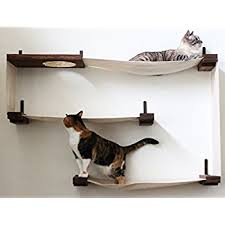 wall mounted cat furniture. Wonderful Mounted CatastrophiCreations Fabric Cat Maze MultipleLevel Hammock Lounger WallMounted  Tree And Wall Mounted Furniture