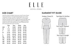 Joie Size Chart Elle Medical Apparel Pull On Cargo Pant