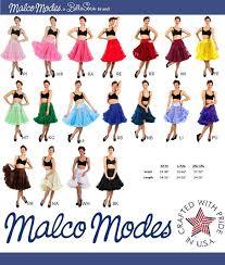 Malco Modes Color Chart Malco Modes Luxury Tea Length 50s Chiffon Petticoat 26
