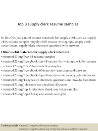 Supply Clerk Sample Resume Top224supplyclerkresumesamples224lva224app622492thumbnail24jpgcb=2242432247243633 2