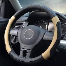 massage car steering wheel cover microfiber leather universal steering wheel covers 38 cm 15 auto handlebar