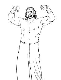 Wrestlers Free Printable Wrestling Wwe Coloring