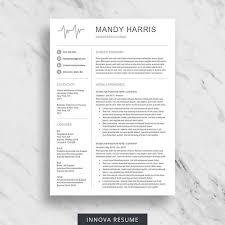 Modern Nurse Resume Format Word Nurse Resume Template For Word Medical Resume Download