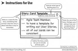 User Story Requirements Template Story Card Templates