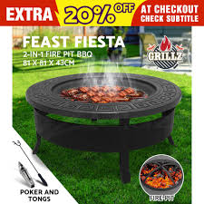 image is loading grillz outdoor fire pit bbq table grill garden