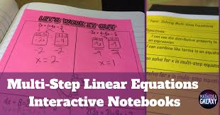 how to teach solving multi step linear equations with interactive notebooks idea galaxy