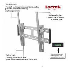 loctek o1t outdoor tilt tv wall mount bracket for most 32