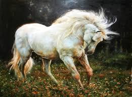 saatchi art artist h a painting white horse art