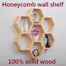 solid wood honeycomb wall shelves shelf large wall decoration rack