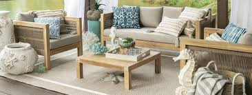 patio furniture with coastal accents