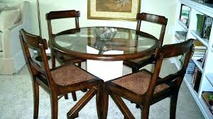 large round dining room table big leg protectors