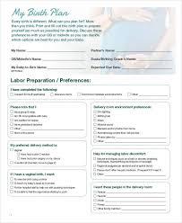 Bradley Birth Plan Template Birth Plan Template Pdf Wcc Usa Org