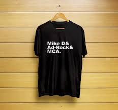 Beastie Boys Names Boys Mca Mike D Ad Rock T Shirt