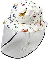 Toddler Bucket Hat Removable Face Shield Hat Cap ... - Amazon.com