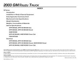 Truck Weight Chart 2003 Gm Isuzu Truck Manualzz Com
