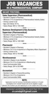 Pharmaceutical Sales Degree Pharmaceutical Company Requires Pharmaceutical Sales Supervisor