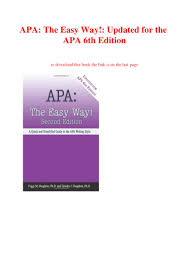 Download Apa The Easy Way Updated For The Apa 6th Edition Pdf Epu