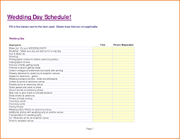 Wedding Schedule Template 24 Wedding Day Schedule Template Expense Report 3