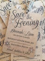 Christmas Wedding Save The Date Cards Wedding Save The Date Cards Christmas Snowflake Kraft Rustic