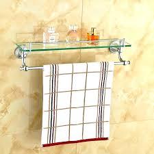 bathroom shelf with towel bar bathroom towel rack shelf wall mounted glass with bar bathroom shelf