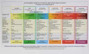 Polyvagal Theory Chart Autonomic Nervous System Table Laminated Card Amazon Co Uk