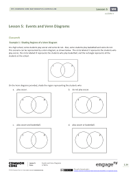 A Venn Diagram Is Shown Below Lesson 5 Events And Venn Diagrams