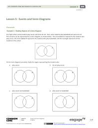 Venn Diagram Shading Examples Lesson 5 Events And Venn Diagrams