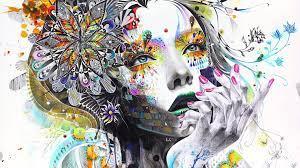 Desktop Wallpaper Girl Painting ...