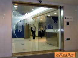 office front doors. ES200G Automatic Tempered Glass Office Sliding Door Front Doors U