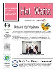 2016 April Cookson Hills Electric Cooperative, Inc. Hot Watts by Inside  Information - issuu