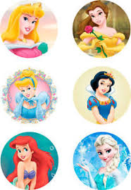 Disney Princess Cake Topper 6 X 3 On A4 Edible Printed Icing Not