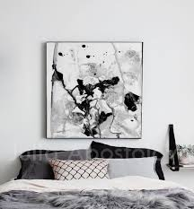 contemporary black white wall art minimalist abstract painting ready to hang canvas abstract print  on canvas black and white wall art with black and white abstract wall art minimalist painting ready to