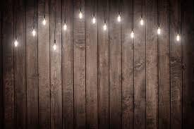 Dark brown wood floor photography backdrops retro bulb photo